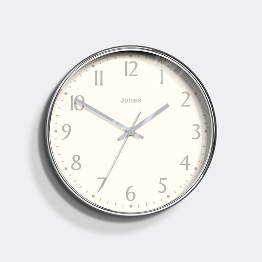 Medium Contemporary Wall Clock | Silver | Jones Clocks | Studio 282