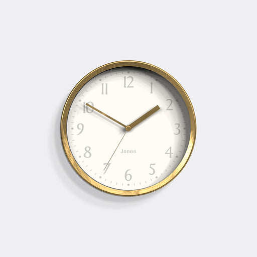 Small Contemporary Wall Clock | Gold | Jones Clocks | Dime 581