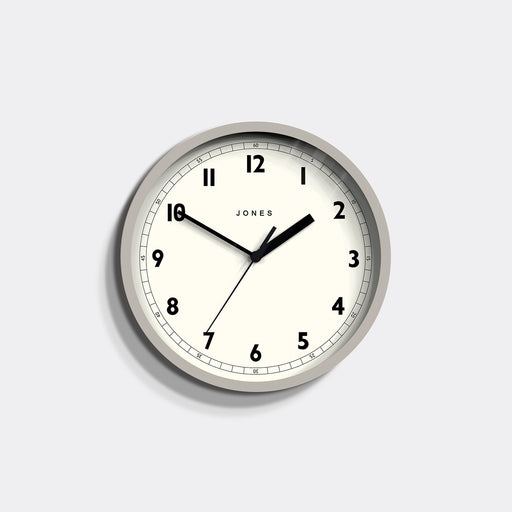 Small Modern Wall Clock | Grey | Jones Clocks | Spin 628