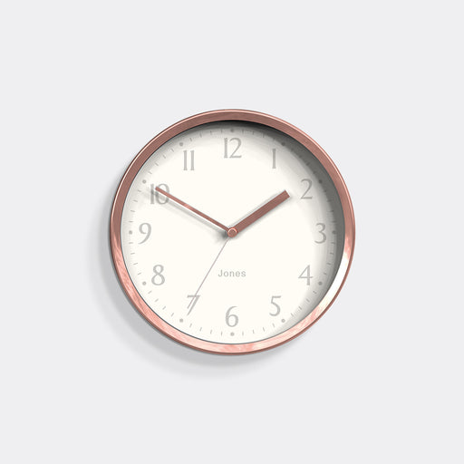 Small Contemporary Wall Clock | Copper | Jones Clocks | Dime 581