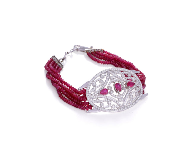 18kt Diamond and Ruby Bracele