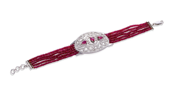 18kt Diamond and Ruby  Bracelet