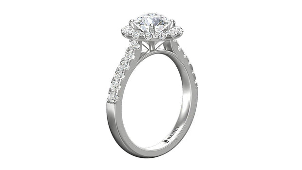 Diamond Round Halo Engagement Ring (2.01 ct. t.w.) in Platinum