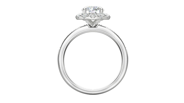 Diamond Round Halo Engagement Ring (2.25 ct. t.w.) in Platinum