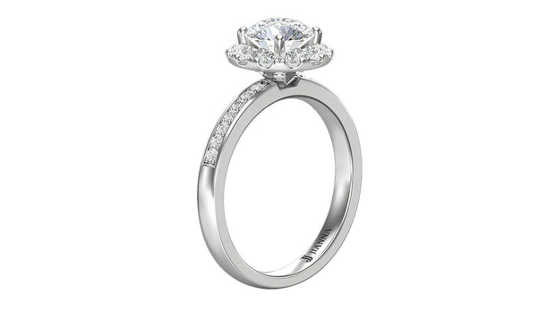Diamond Round Halo Engagement Ring (1.51 ct. t.w.) in Platinum