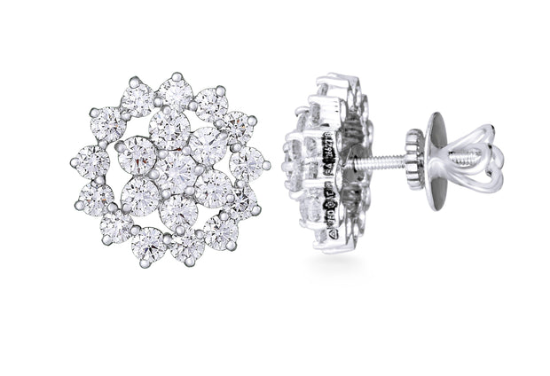 18kt diamond earrings