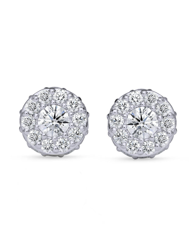 18 kt custom made diamond earrings