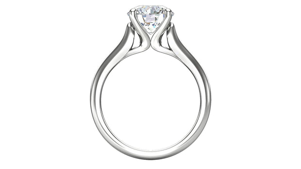 Round Diamond Engagement Ring (2.01ct t.w) in Platinum