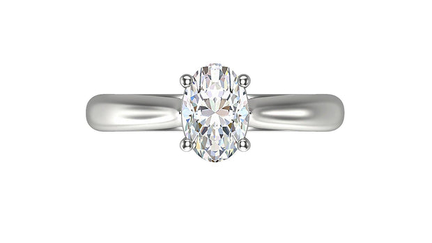 Oval Diamond Engagement Ring (1.05ct t.w) in Platinum