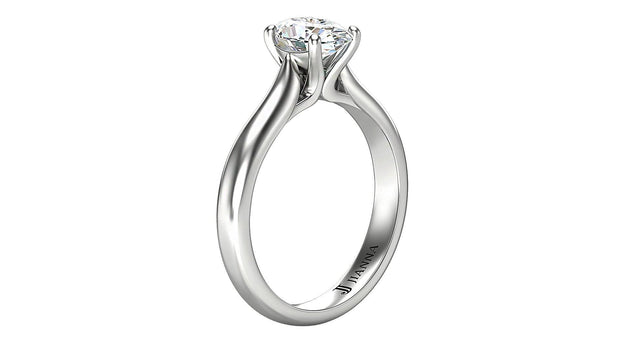 Oval Diamond Engagement Ring (1.05ct t.w) in Platinum - Jianna Jewelers