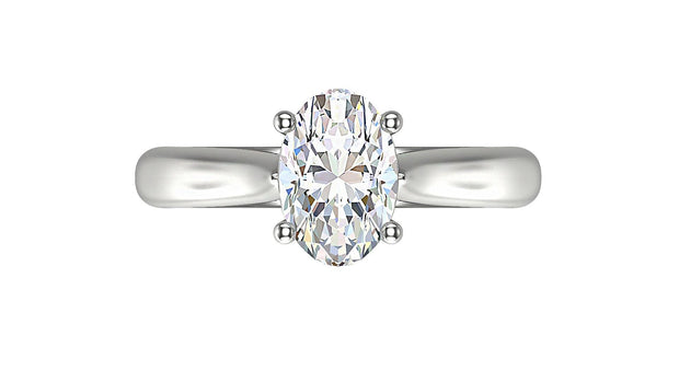 Oval  Diamond Engagement Ring (1.54ct t.w) in Platinum