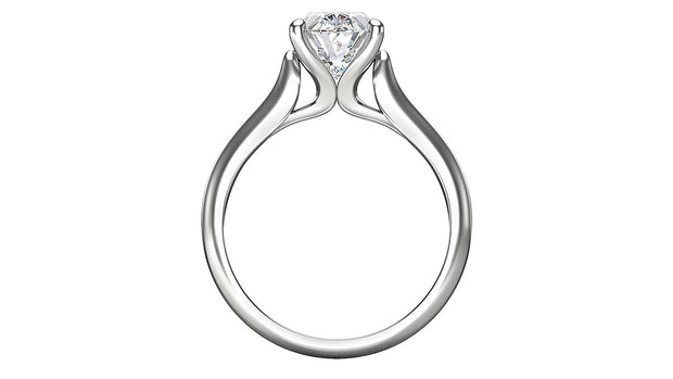 Oval Diamond Engagement Ring (2.10ct t.w) in Platinum
