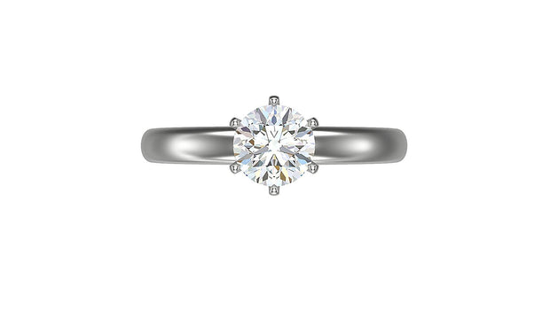 Round Diamond Engagement Ring (1.02ct t.w) in Platinum
