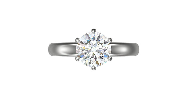 Round Diamond Engagement Ring (2.05ct t.w) in Platinum