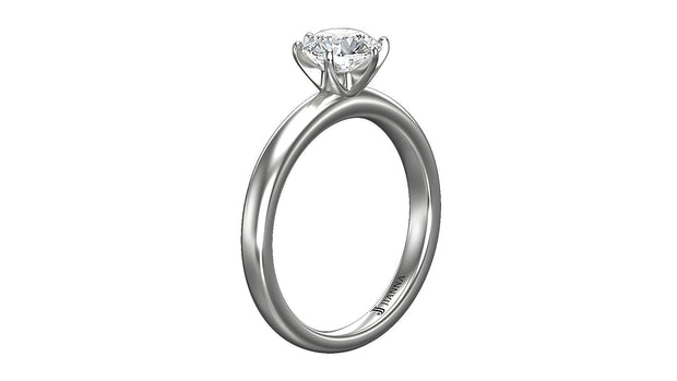 Round Diamond Engagement Ring (1.02ct t.w) in Platinum - Jianna Jewelers