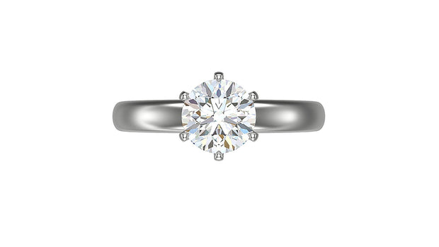 Round Diamond Engagement Ring (1.51ct t.w) in Platinum