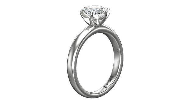 Round Diamond Engagement Ring (1.51ct t.w) in Platinum - Jianna Jewelers