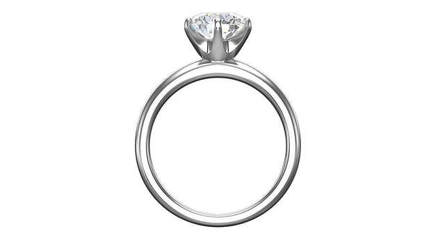 Round Diamond Engagement Ring (2.05ct t.w) in Platinum - Jianna Jewelers