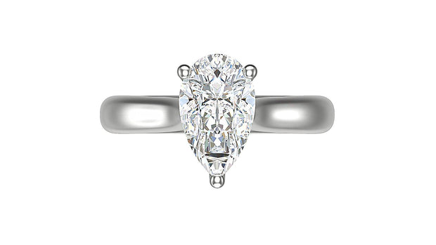 Pear Diamond Engagement Ring (2.10ct t.w) in Platinum