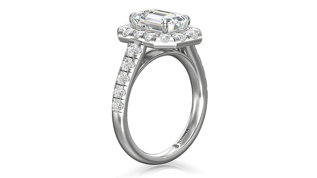 Diamond Emerald Cut Halo Engagement Ring (2 ct. t.w) in Platinum