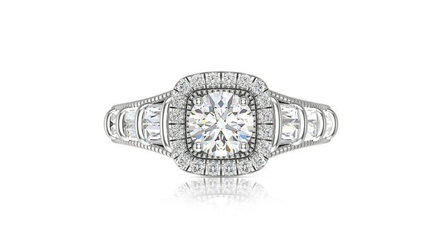Round Diamond Halo Engagement Ring - Jianna Jewelers
