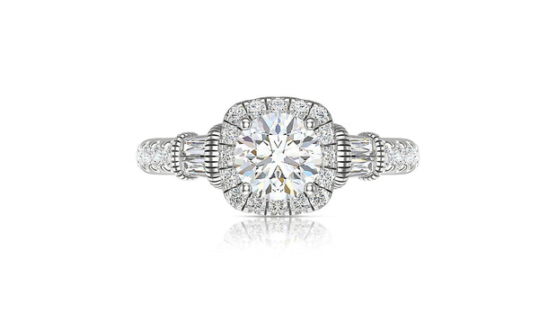 18kt Halo engagement ring