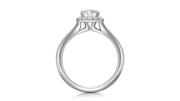 Round Halo Diamond Engagement Ring - Jianna Jewelers