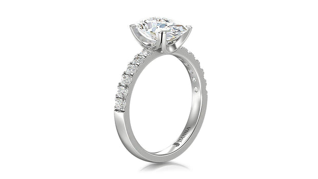 oval shape Halo Diamond Engagement Ring