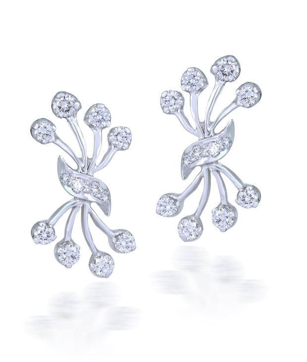 18 kt diamond earrings