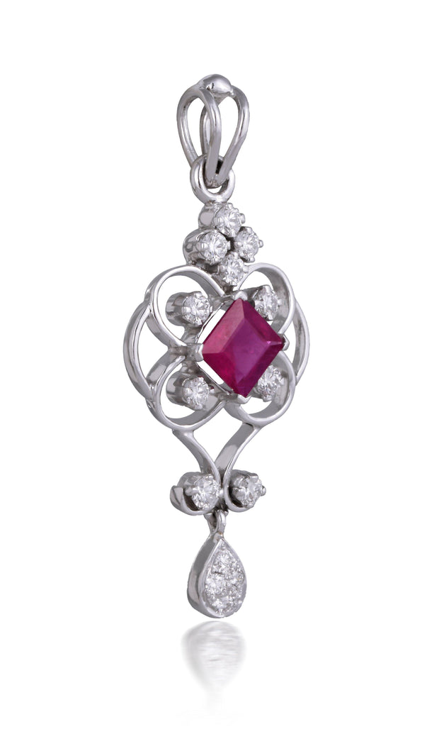 18kt diamond and ruby pendant - Jianna Jewelers