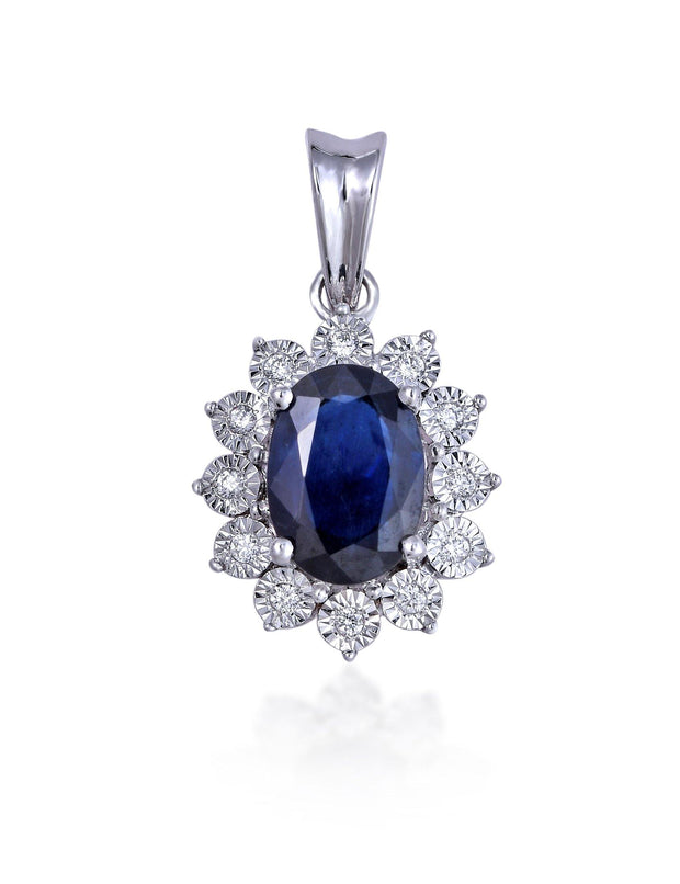 18kt diamond and gemstone pendant