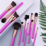 Docolor 11 piece makeup brushes for face and eyes