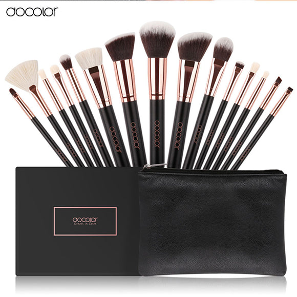 Docolor 15 piece high quality make up brush set
