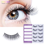 Docolor  5 pairs eyelashes  mink lashes natural long 1 box mink eyelashes 0.6cm-1.2cm  false eyelashes full strip lashes