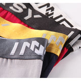 Innersy 2017 Shorts Mens 4Pcs\lot Underwear Soft Boxers Cotton Boxer Men Solid Boxer Shorts Plus Size Boxers Mens Underwear Lot