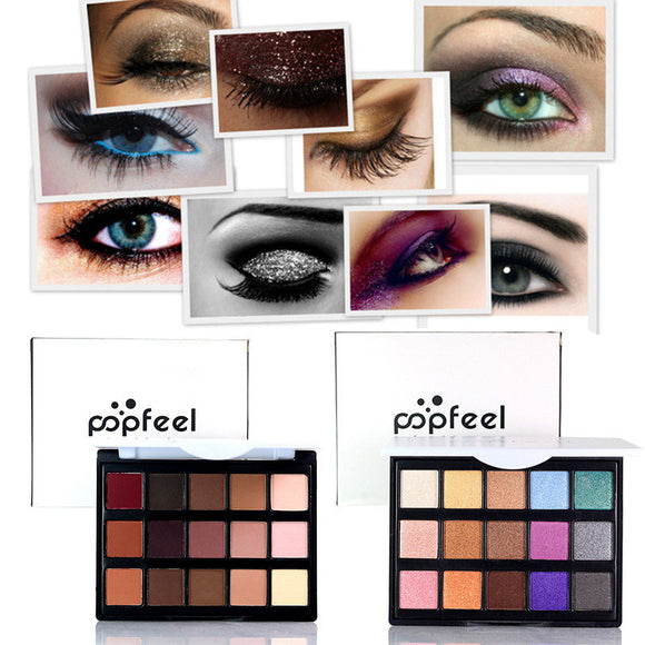 POPFEEL 15 Colour Nude Eye shadow Palette