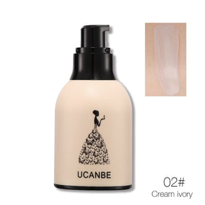 UCANBE Brand Milk Bottle Face Base Liquid Foundation Makeup Full Coverage Concealer Whitening Primer BB Cream Waterproof Lasting