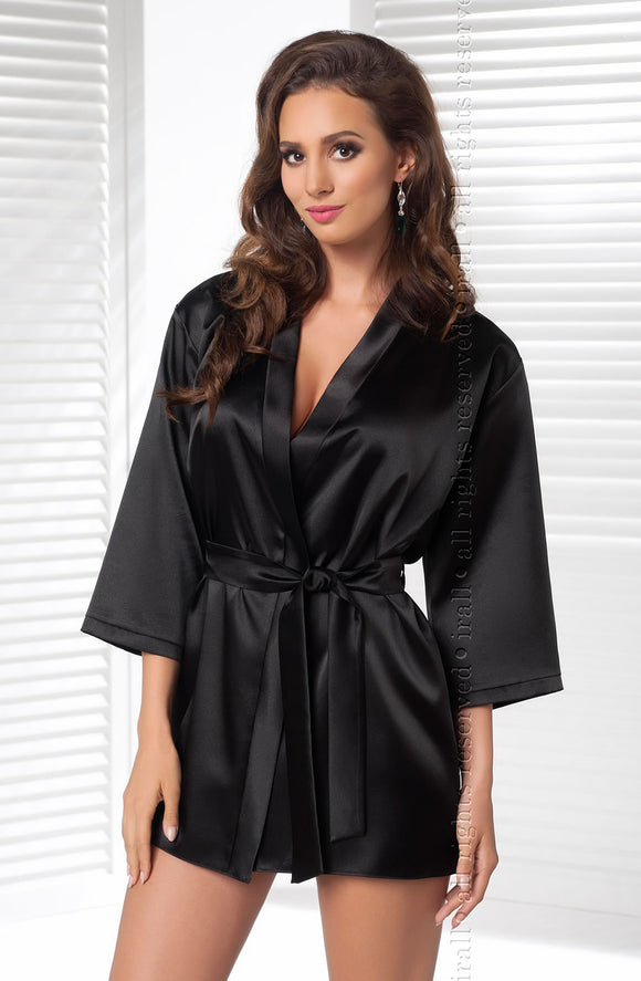 Irall Aria Dressing Gown - Black