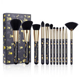 12 Piece Goth Design Make Up Brush Set