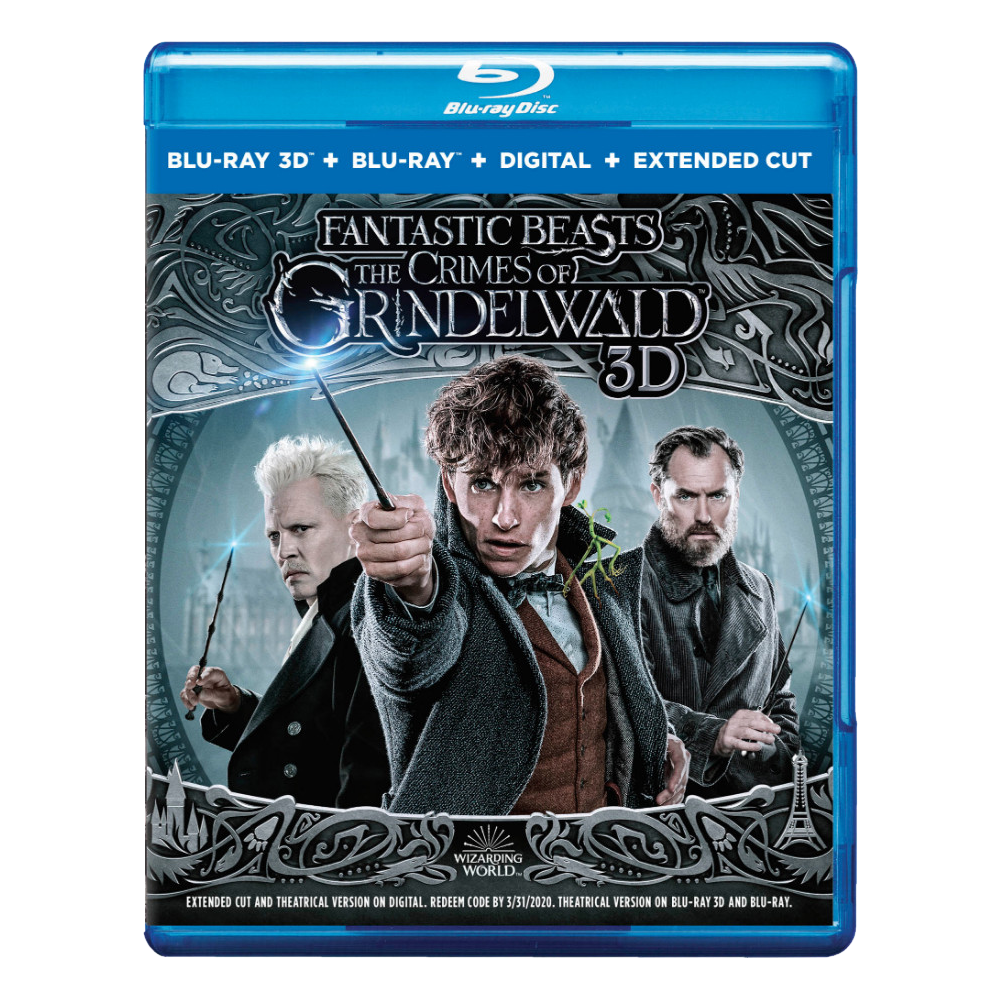 Fantastic Beasts: The Crimes of Grindelwald™ 3D (Blu-ray 3D + Blu-ray + Digital Combo Pack)