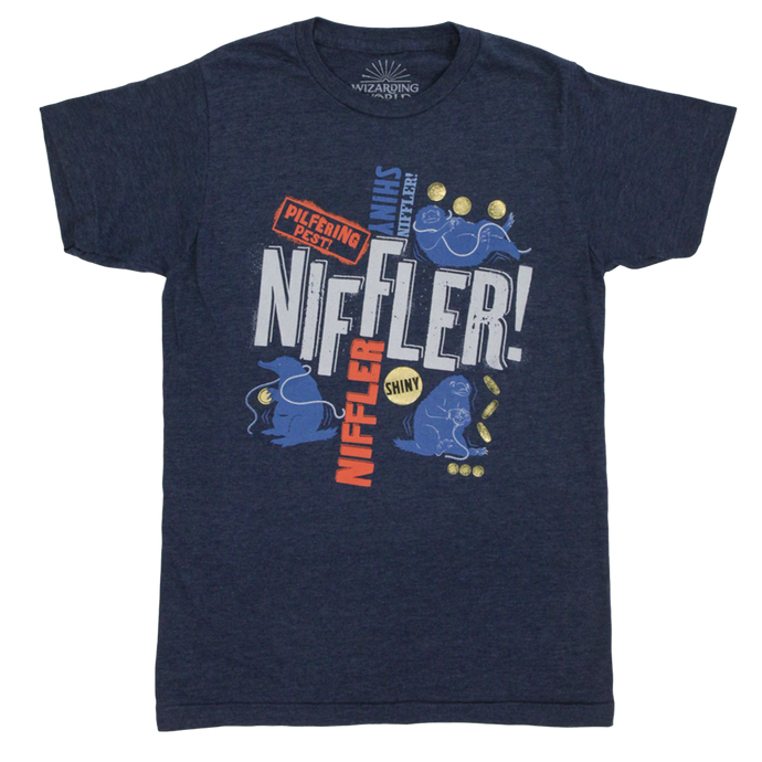 Magical Mischief Niffler™ Gold Foil Blue T-Shirt