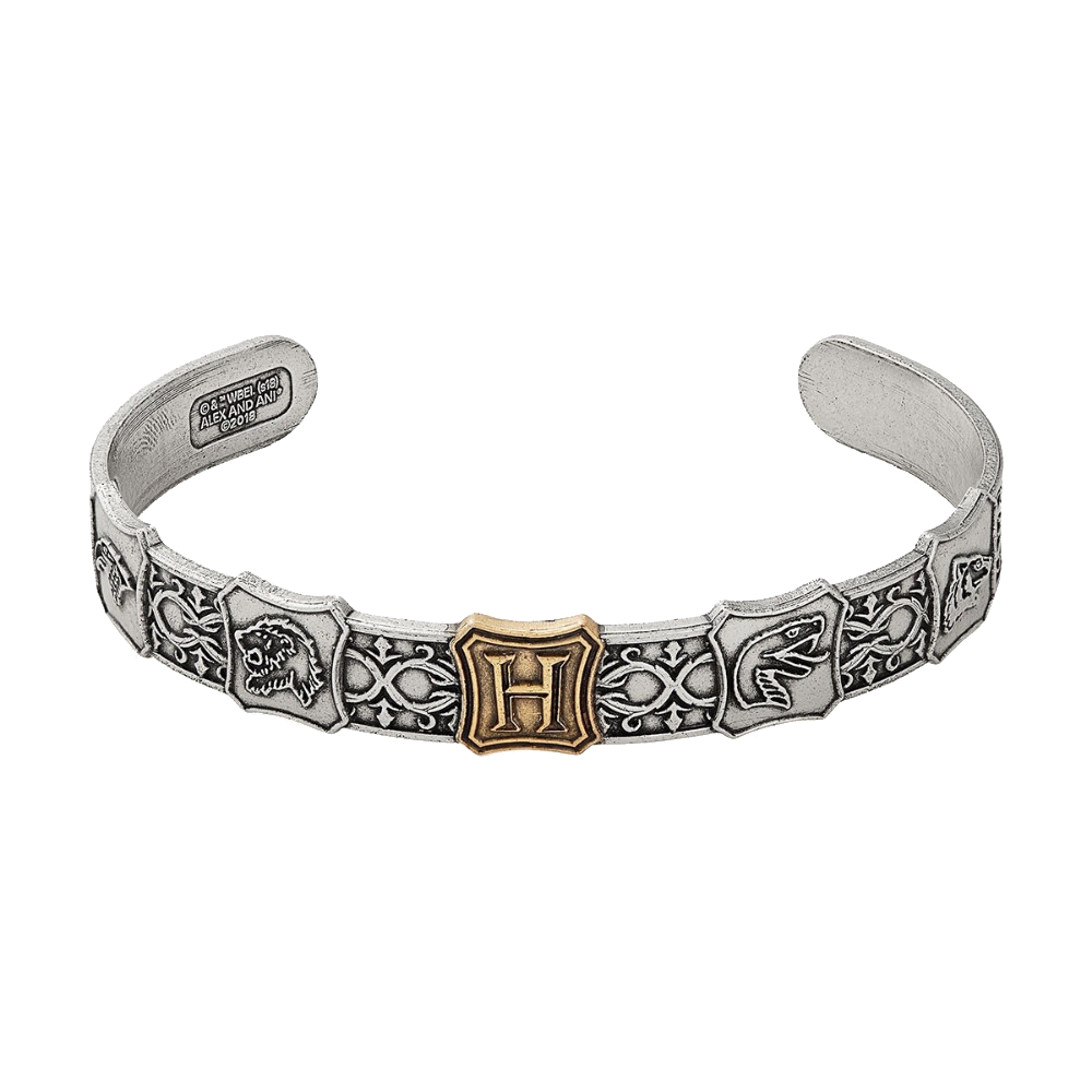 ALEX AND ANI Hogwarts is My Home Two Tone Men's Wrist Cuff