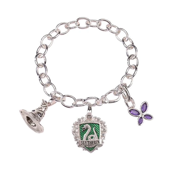 Slytherin Lumos Charm Bracelet by Noble Collection