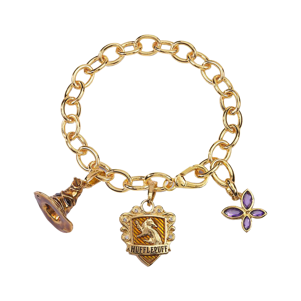 Hufflepuff Lumos Charm Bracelet by Noble Collection