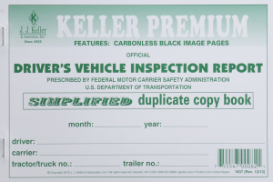 DRIVER'S VEHICLE INSPECTION BOOK SIMPLIFIED/CARBONLESS
