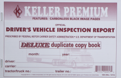 DRIVER'S VEHICLE INSPECTION REPORT  BOOK