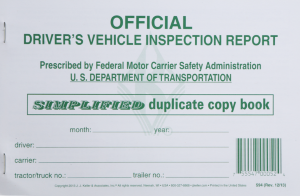 DRIVER'S VEHICLE INSPECTION REPORT BOOK (SIMPLIFIED)