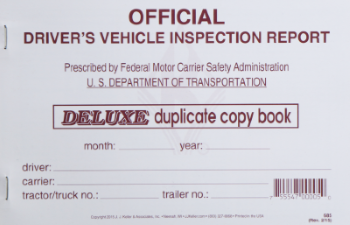 DRIVER'S VEHICLE INSPECTION REPORT BOOK (DETAILED)