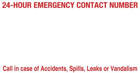 24-HOUR EMERGENCY CONTACT NUMBER SIGN