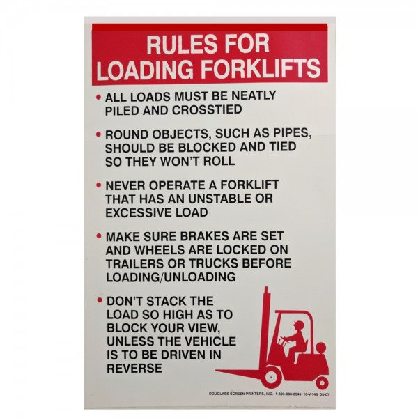 DISCONTINUED  RULES FOR LOADING FORKLIFTS